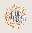 vintage sunburst abstract retro label old school vector image