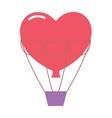 Wedding balloons romantic travel vector image