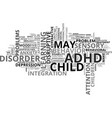 what s not adhd text word cloud concept vector image vector image