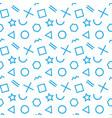 stylish seamless pattern of simple blue geometric vector image