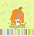 Little Girl yoga vector image
