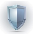 Blank shield protection emblem vector image