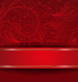 Abstract Ornate Red Backdrop vector image vector image