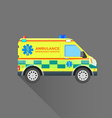 ambulance emergency service car vector image vector image