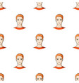 avatar of a man with orange hairavatar and face vector image vector image