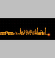 bahrain light streak skyline