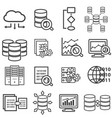 big data data analysis computer and cloud vector image vector image