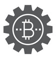 bitcoin gear glyph icon finance and money vector image