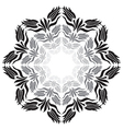 black and white ottoman tulips vector image vector image
