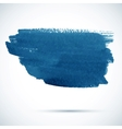 Blue paintbrush stain vector image vector image