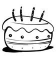 cake drawing on white background vector image vector image