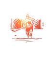 canada hockey symbol country sport concept vector image