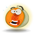 cartoon funny melon character vector image vector image