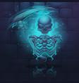cartoon skeleton vector image