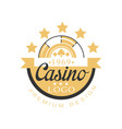 casino logo premium design golden vintage vector image
