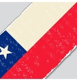 Chilean grunge flag vector image vector image