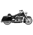 classic vintage motorcycle high detailed realistic vector image