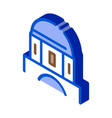 classical greek building dome isometric icon vector image vector image