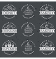 Collection of vintage retro bakery logo labels on vector image