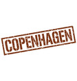 copenhagen brown square stamp vector image vector image