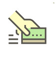 credir card purchase c icon design for financial vector image