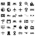 digital icons set simple style vector image vector image
