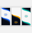 elegant business vertical banners in wave style vector image vector image