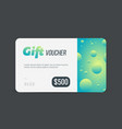 Gift voucher modern template with futuristic