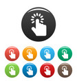 hand cursor icons set color vector image vector image