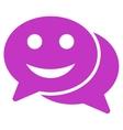 Happy Chat Icon vector image vector image