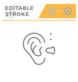 hearing aid line icon vector image vector image