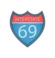 Interstate Highway sign Denim style vector image vector image