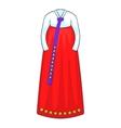 Korean traditional dress icon cartoon style vector image vector image