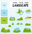 Landscape constructor vector image vector image