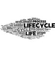 lifecycle word cloud concept vector image vector image