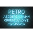 light neon font alphabet glowing text vector image vector image