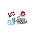 logotype d modern template set vector image vector image