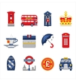 London and England Icon Set vector image vector image