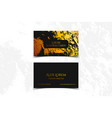 luxury business card with marble texture and gold vector image vector image
