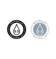 neutral ph balance logo icon for shampoo or cream vector image vector image