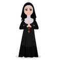 nun cartoon character vector image