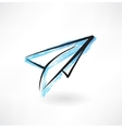 paper airplane grunge icon vector image