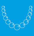 pearl necklace icon outline style vector image vector image