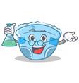 professor baby diaper character cartoon vector image vector image