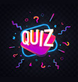 quiz symbol neon trivia night vector image