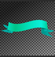 realistic shiny aqua ribbon banner isolated vector image vector image