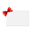 Red Bow And Blank Gift Tag vector image vector image