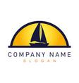 sail boat logotype vector image