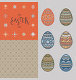 seamless pattern lettering and colorful easter vector image