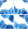 Set of abstract hexagon geometric blue backgrounds vector image vector image